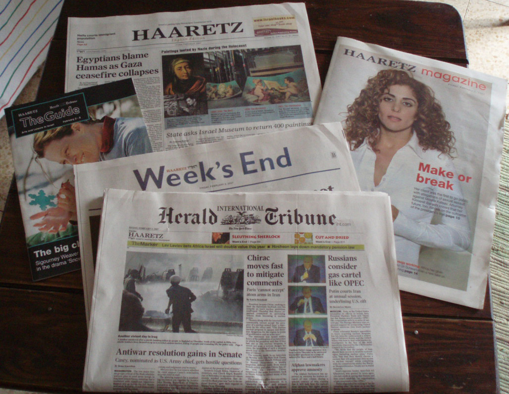 International Herald Tribune - Ha'aretz